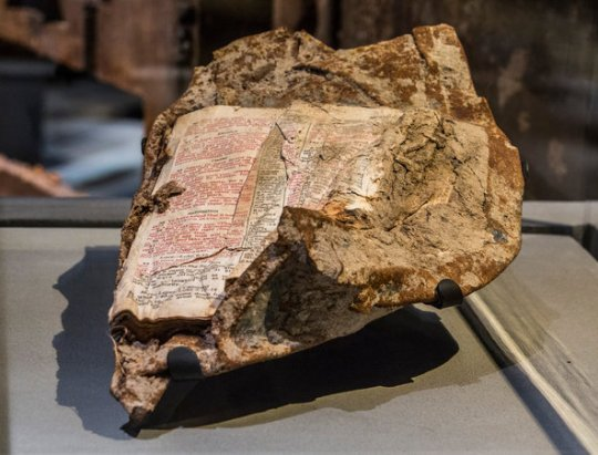 911 Bible Fused to Steel - World Trade Center
