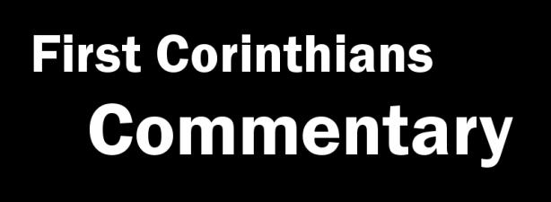 1 Corinthians 14 Commentary