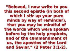 Peter wrote 2 Peter