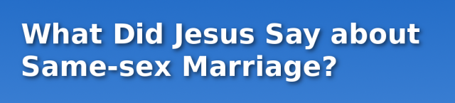 Verse about Same-sex Marriage
