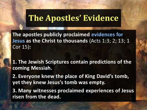The Apostles' Evidence